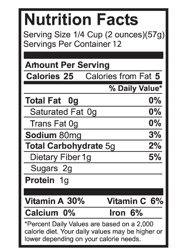 Whole Foods Salsa Nutrition Facts